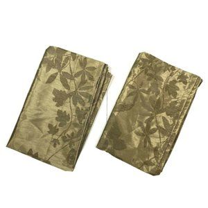 Pier1 Discontinued Curtains Panel Metallic Leaves